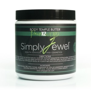 large natural body temple butter organic pain x2 with cbd